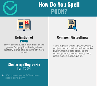 Correct spelling for poon