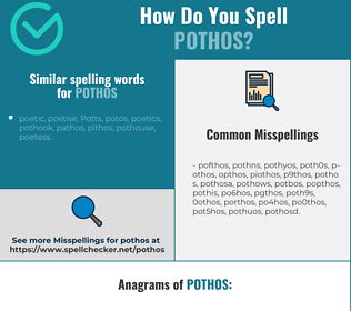 Correct spelling for pothos