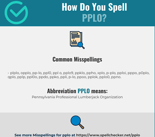 Correct spelling for pplo