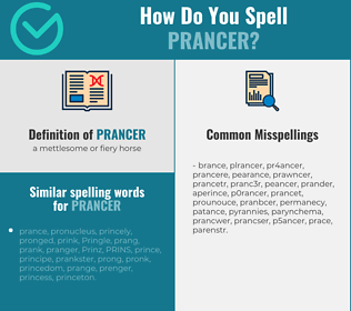 Correct spelling for prancer