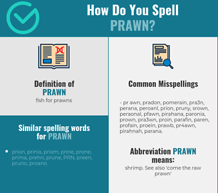 Correct spelling for prawn