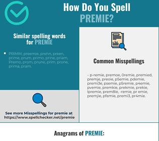 Correct spelling for premie