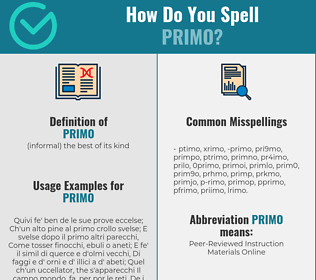 Correct spelling for primo
