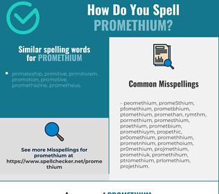 Correct spelling for promethium