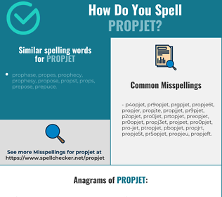 Correct spelling for propjet