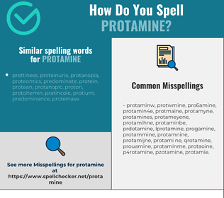 Correct spelling for protamine