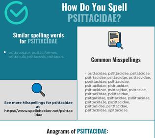 Correct spelling for psittacidae