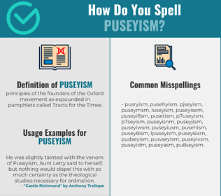 Correct spelling for puseyism