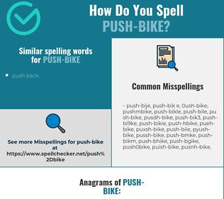 Correct spelling for push-bike