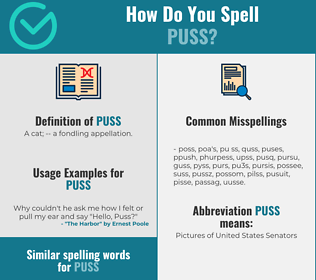 Correct spelling for puss