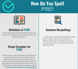 Correct spelling for pyre