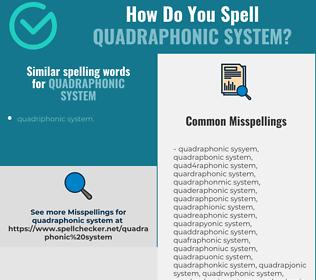 Correct spelling for quadraphonic system