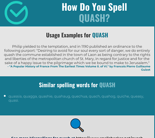 Correct spelling for quash