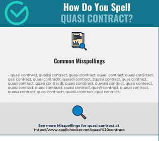 Correct spelling for quasi contract