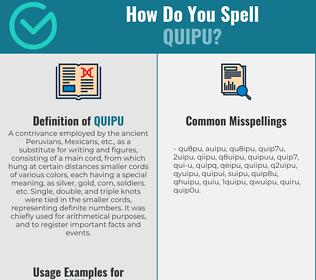 Correct spelling for quipu
