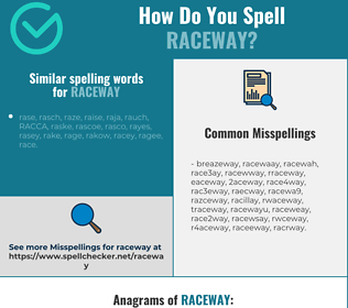 Correct spelling for raceway