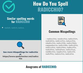 Correct spelling for radicchio