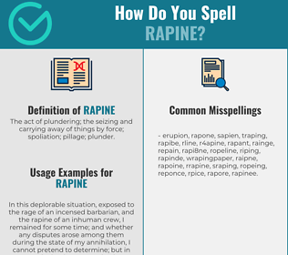 Correct spelling for rapine