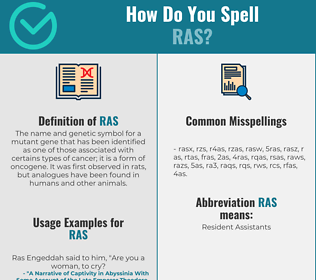 Correct spelling for ras