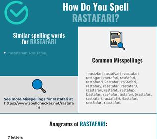 Correct spelling for rastafari