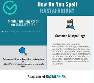 Correct spelling for rastafarian