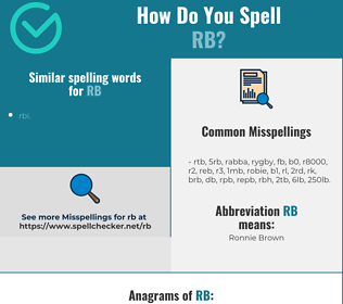 Correct spelling for rb
