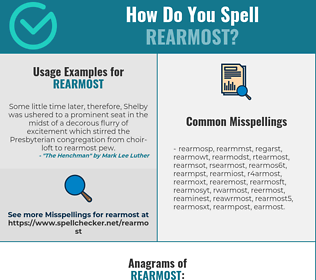 Correct spelling for rearmost