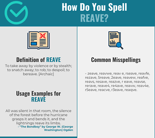 Correct spelling for reave
