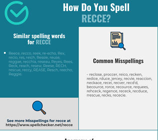 Correct spelling for recce