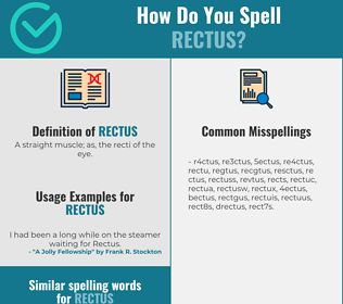 Correct spelling for rectus