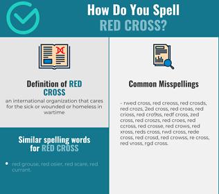 Correct spelling for red cross