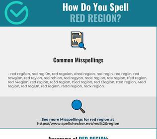 Correct spelling for red region