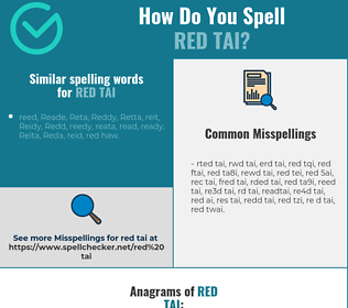 Correct spelling for red tai