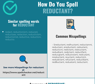 Correct spelling for reductant