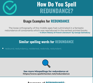 Correct spelling for redundance