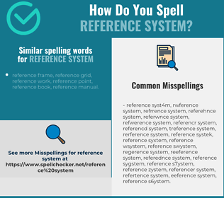 Correct spelling for reference system