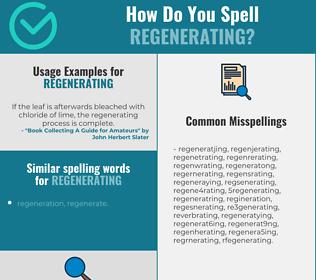 Correct spelling for regenerating