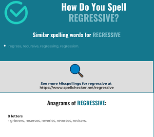 Correct spelling for regressive