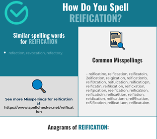 Correct spelling for reification