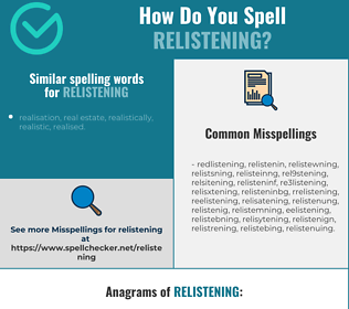 Correct spelling for relistening