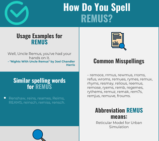 Correct spelling for remus