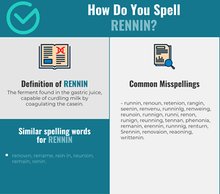 Correct spelling for rennin