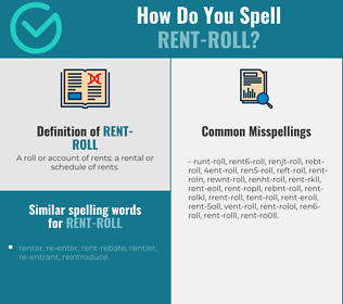 Correct spelling for rent-roll