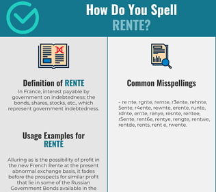 Correct spelling for rente
