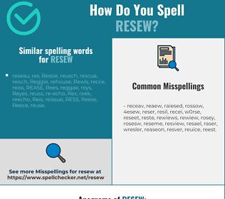 Correct spelling for resew