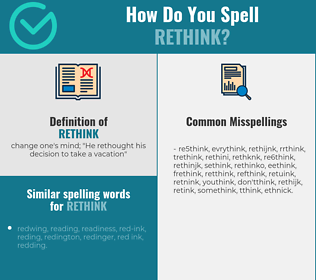 Correct spelling for rethink