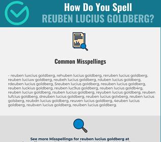 Correct spelling for Reuben Lucius Goldberg