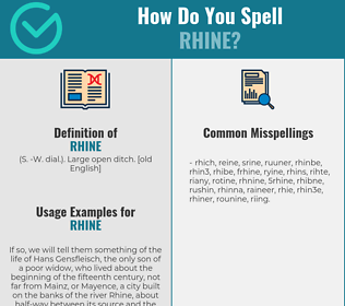 Correct spelling for rhine