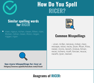 Correct spelling for ricer