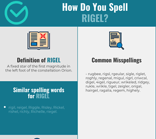 Correct spelling for rigel